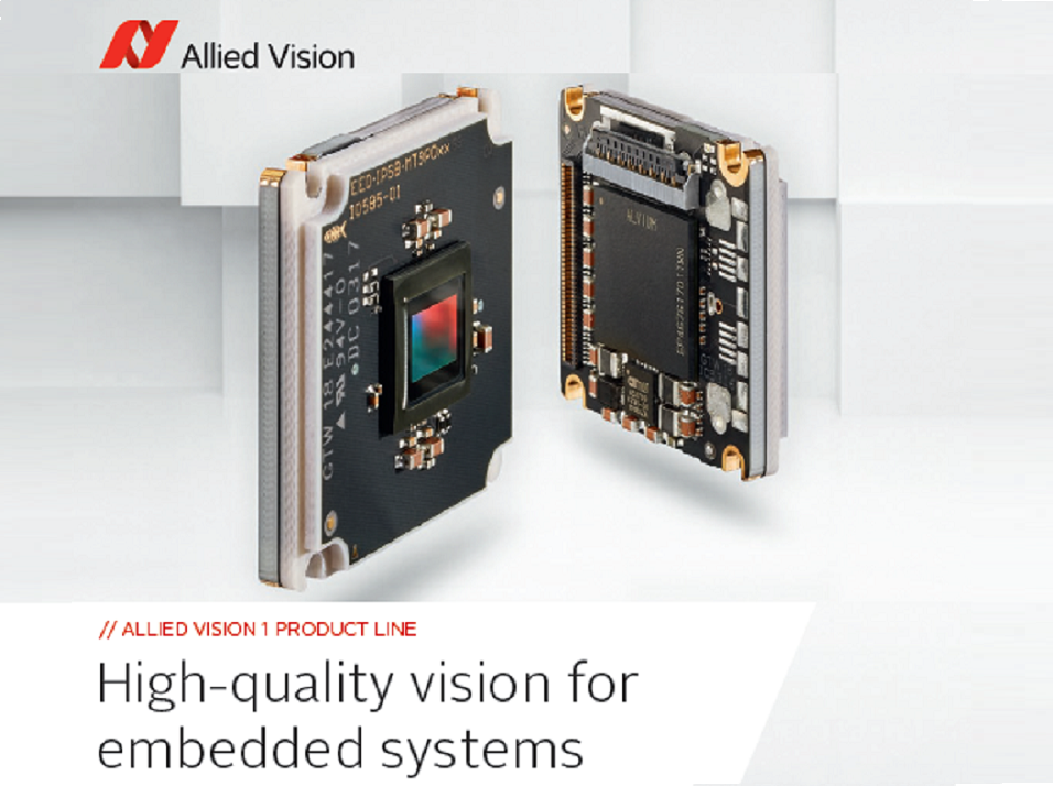 Allied Vision brings machine vision performance to the embedded world with innovative camera platform